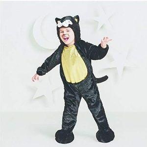 2 Black Kitty Cat Plush Costumes Jumpsuit 18-24 m